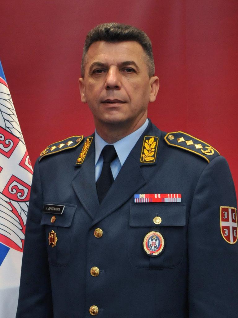 general draganić retiring from the duty of deputy chief of general