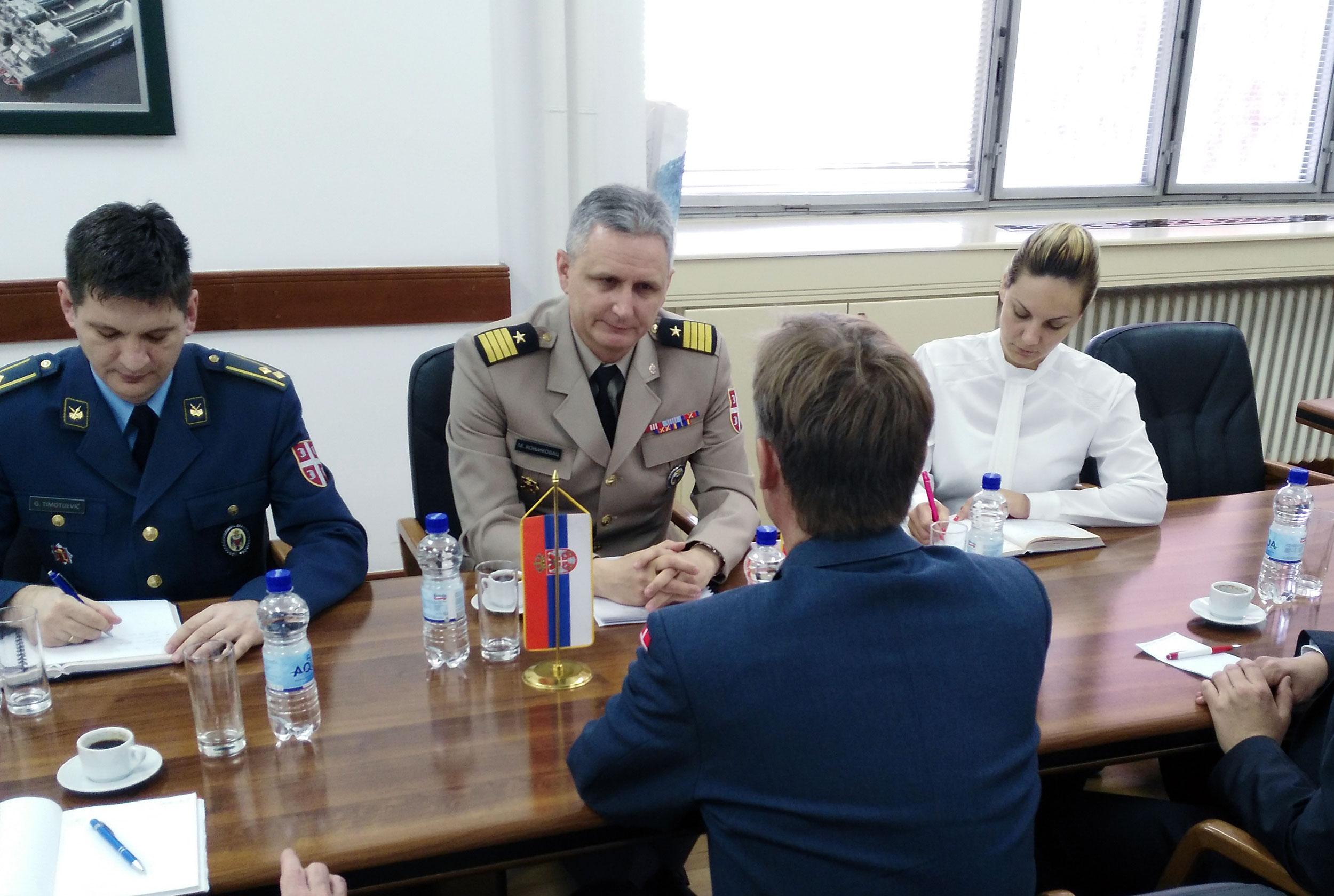 Подршка Данске изградњи капацитета система одбране Србије