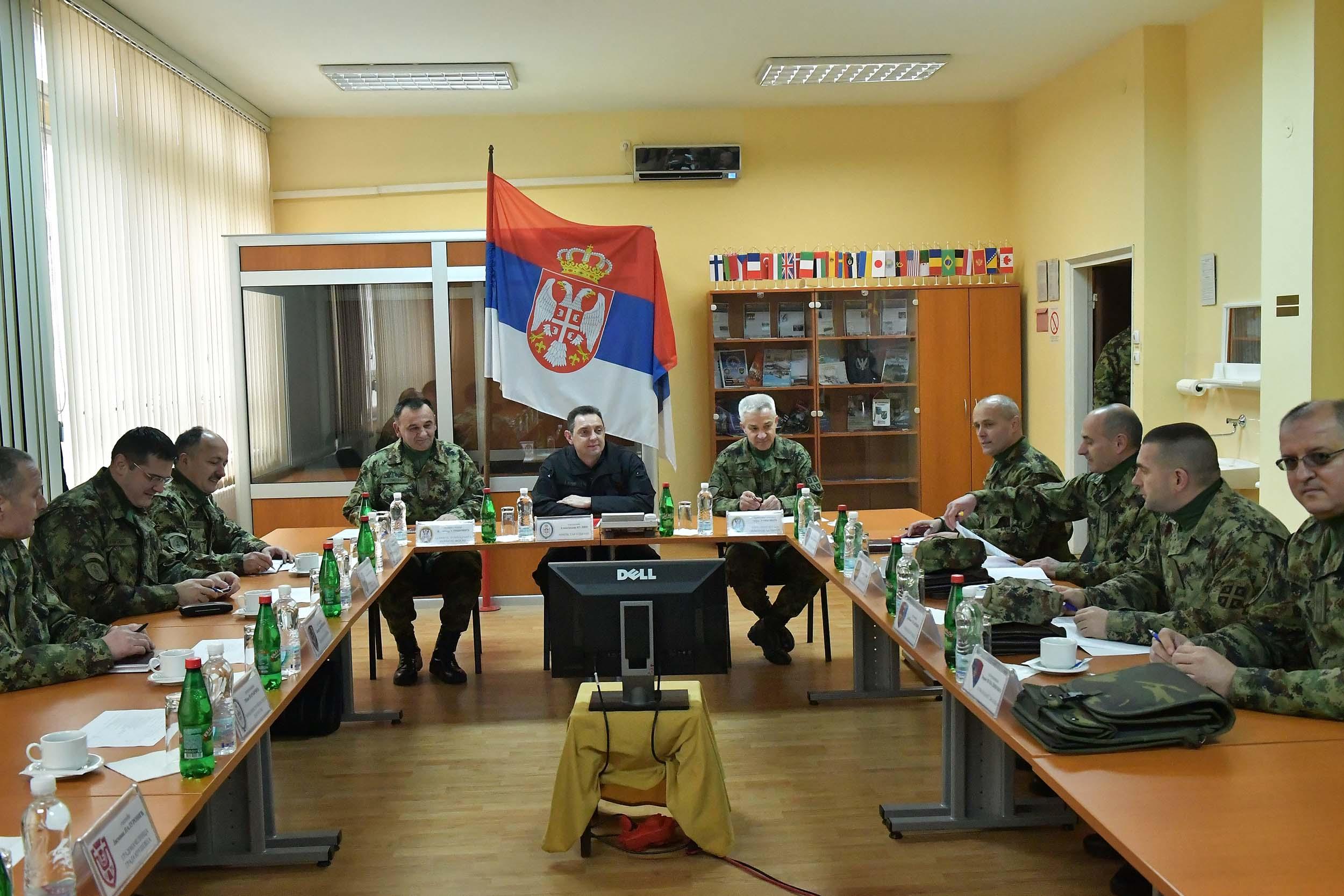 "The Minister of Defence in the Barracks ""Car Lazar"" in Kruševac"