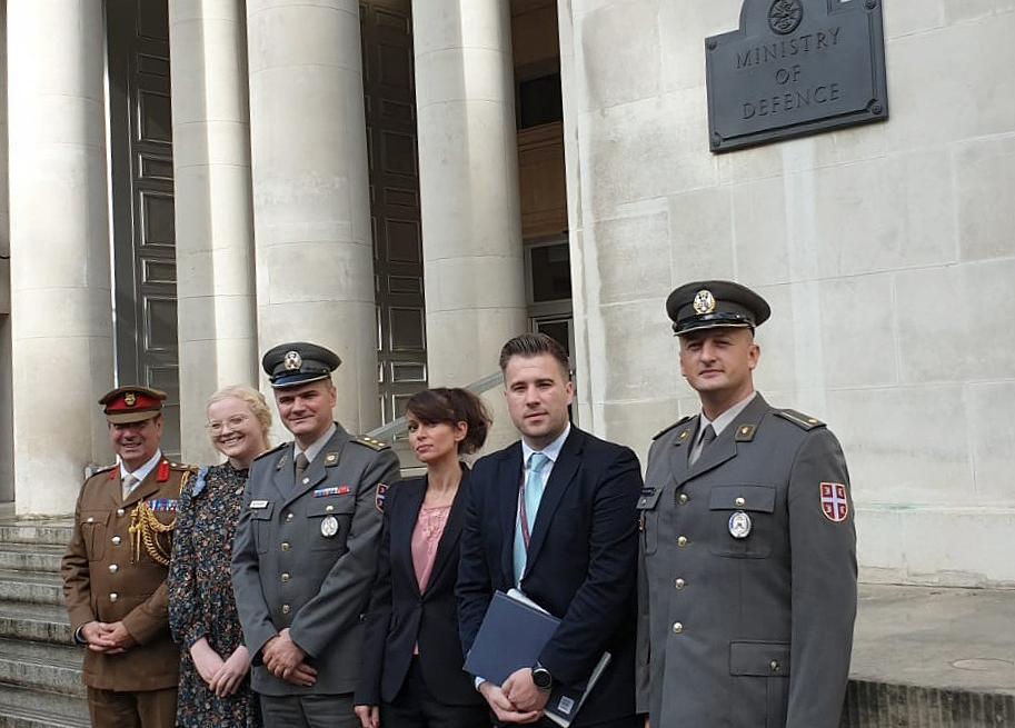 Делегација Управе за односе са јавношћу у посети Министарству одбране Уједињеног Краљевства