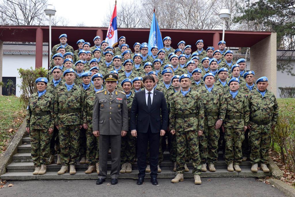 Испраћај контингента Војске Србије у мултинационалну операцију УН у Централнофричкој Републици