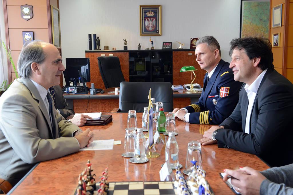 Састанак министра одбране и амбасадора Грчке