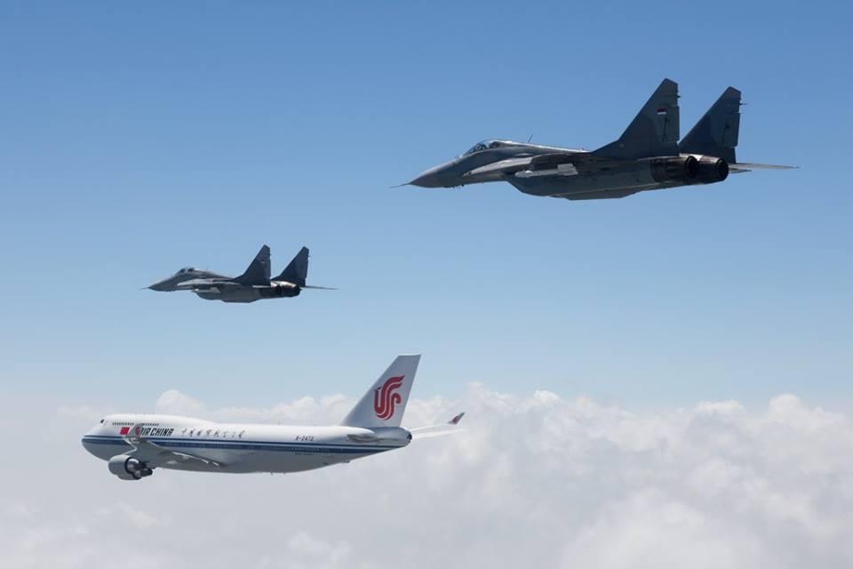 Дочек авиона кинеског председника