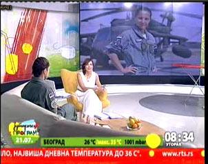 РТС1 - Јутарњи програм - Поручник Ања Крнета